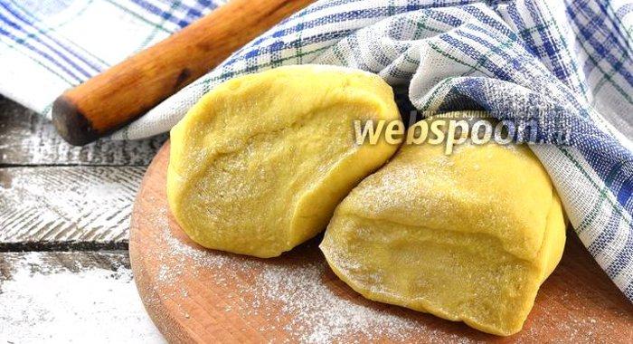 Постное заварное тесто для пельменей