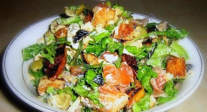 Салат цезарь с рыбой в домашних условиях рецепт