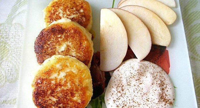 Сырники с яблоками пышные рецепт с пошагово