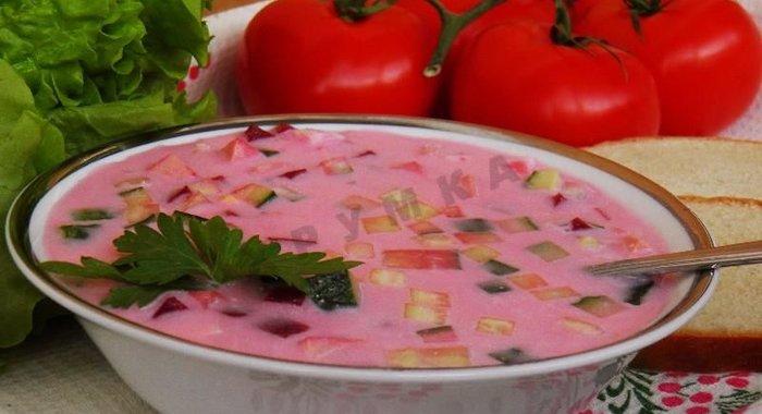 Холодный борщ из маринованной свеклы пошаговый рецепт с