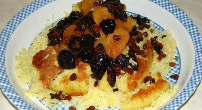 Плов с сухофруктами рецепт с фото азербайджанская
