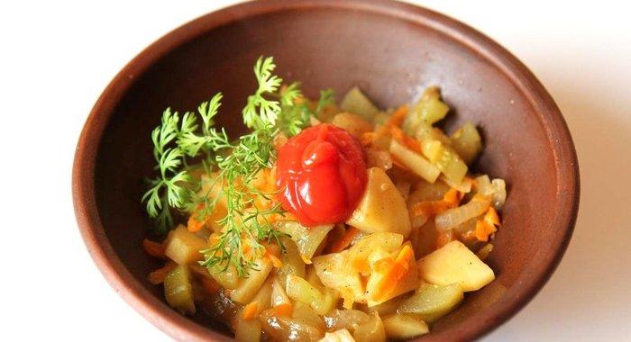 Рагу из кабачка с картошкой фото рецепт