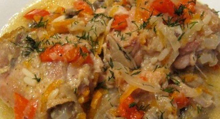 Мясо с овощами в казане пошагово