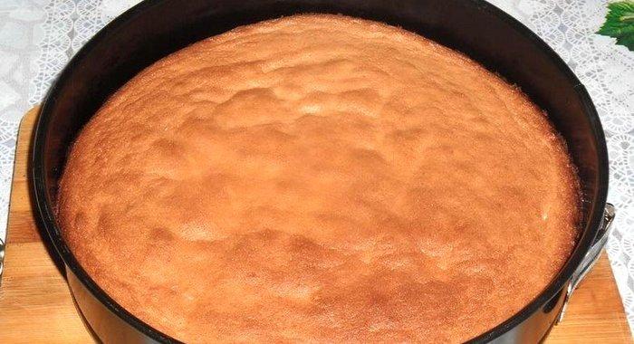 Простой бисквит в духовке пошаговый с