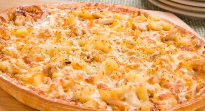 Пицца курица с ананасами рецепт с фото