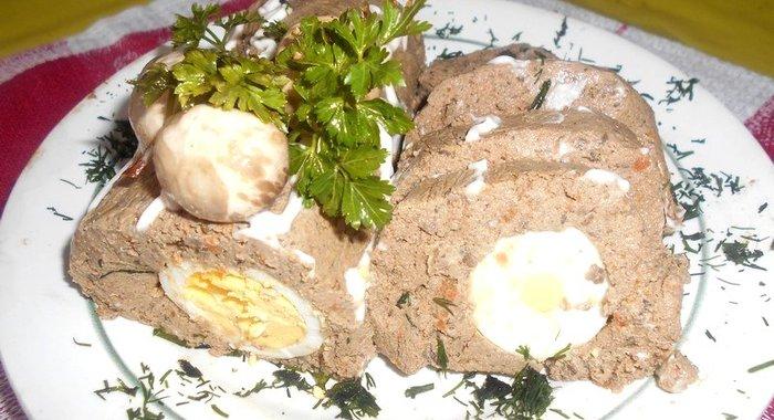 Печёночный рулет рецепт пошагово