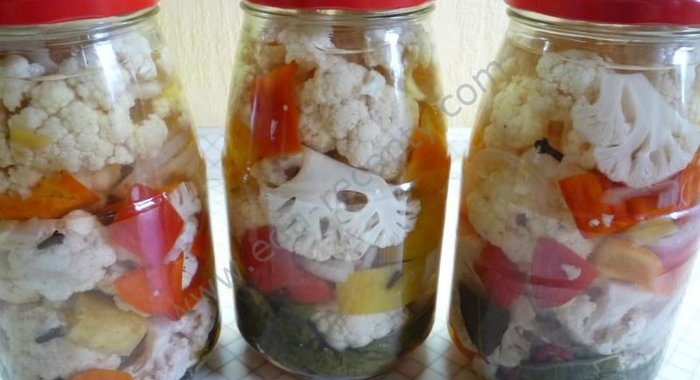 Рецепты маринованной цветной капусты на зиму