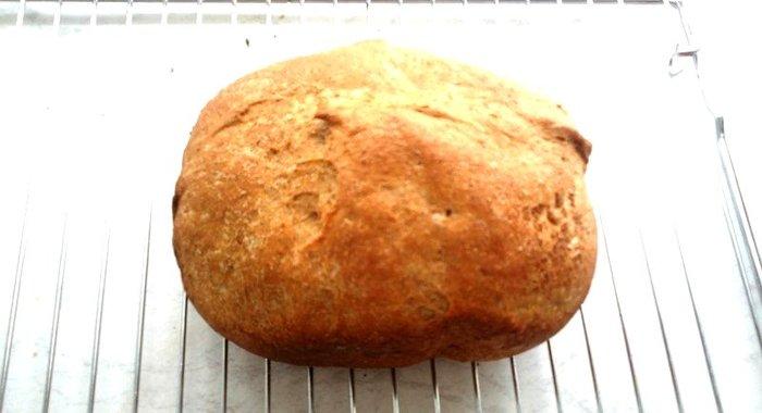 Хлеб из муки с отрубями в хлебопечкеы