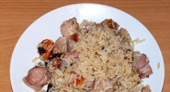 Простой рецепт вкусного плова с курицей