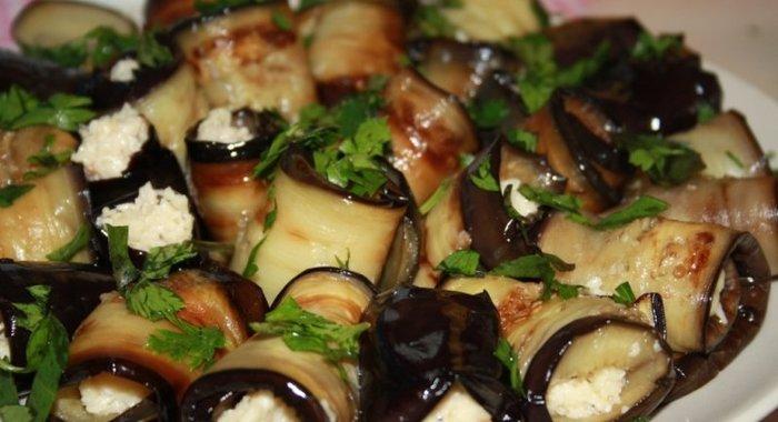 Рулеты из баклажан на праздничный стол рецепты