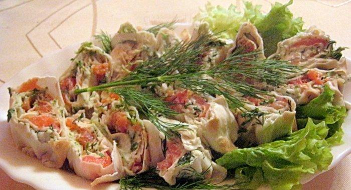Сёмга в лаваше рецепт с пошагово