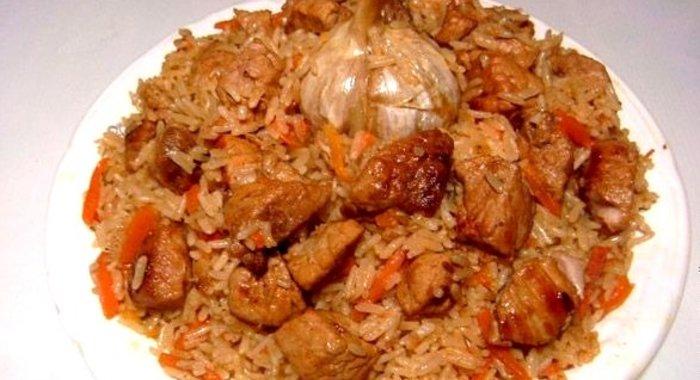 Плов из свинины узбекский рецепт с фото пошагово