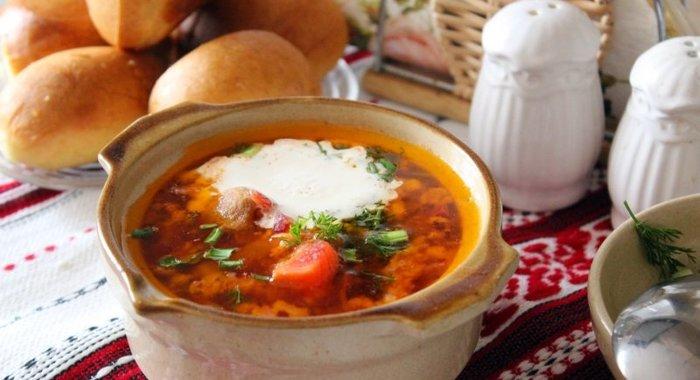 Борщ украинский рецепт пошагово с салом