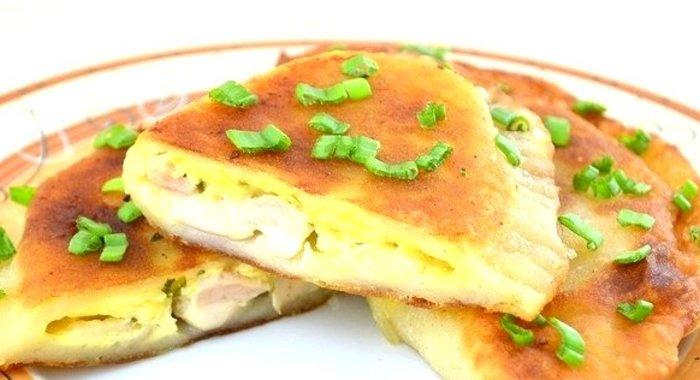 Пирог с курицей и сыром в мультиваркеы