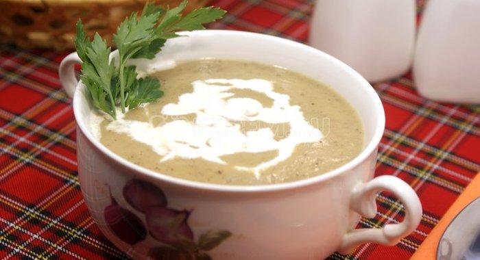 Суп пюре из цукини со сливками рецепт