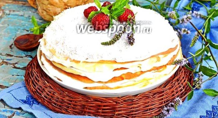 Блинный торт рецепт пошаговый рецепт