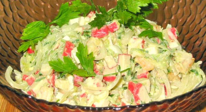 Салат с креветками с сыром рецепт с пошагово