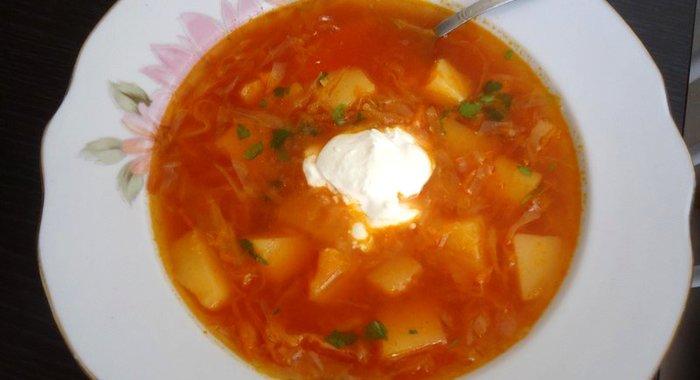 Борщ на косточке рецепт с фото пошагово