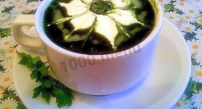 Крем суп из шпината рецепт со сливками рецепт с пошагово