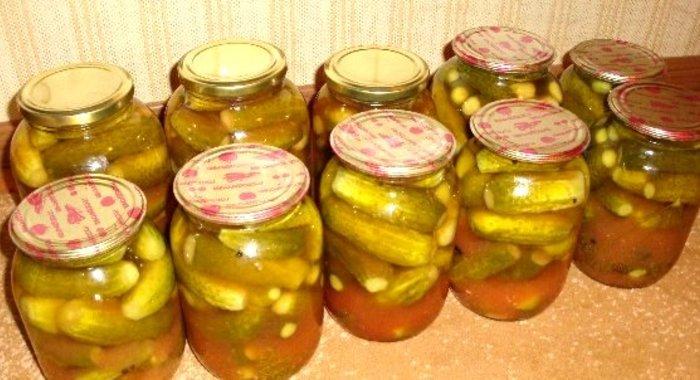 рецепты фото консервированных огурцов