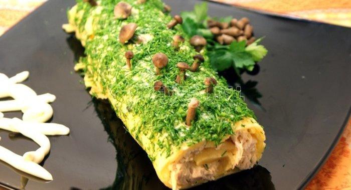 Рецепт салата полено с