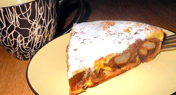 Пирог зебра на майонезе рецепт с фото