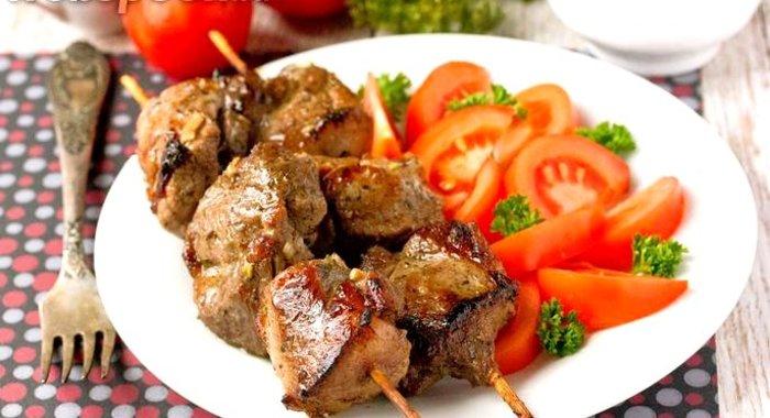 Шашлыки на шпажках в духовке из свинины рецепт пошагово