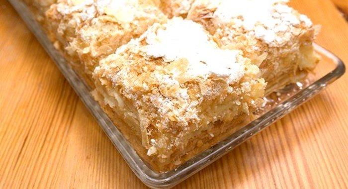 Слоеные пирожные с кремом рецепт