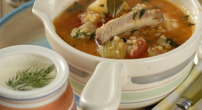 Суп из чечевицы с бараниной рецепт с фото пошагово