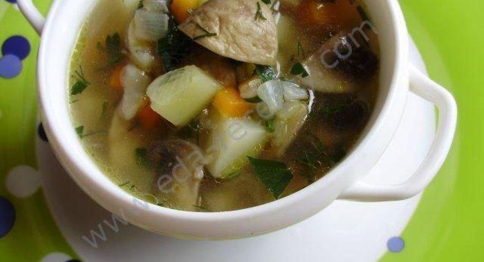 Суп постный с шампиньонами рецепт