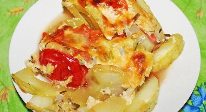Рецепт мясо кабачки картофель