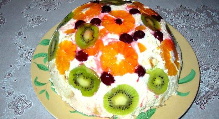 Рецепты фруктового торта пошагового