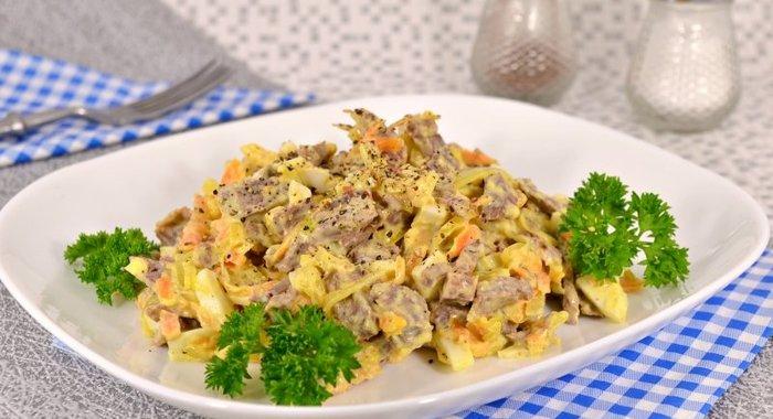 Салат со свининой яйцами рецепт с