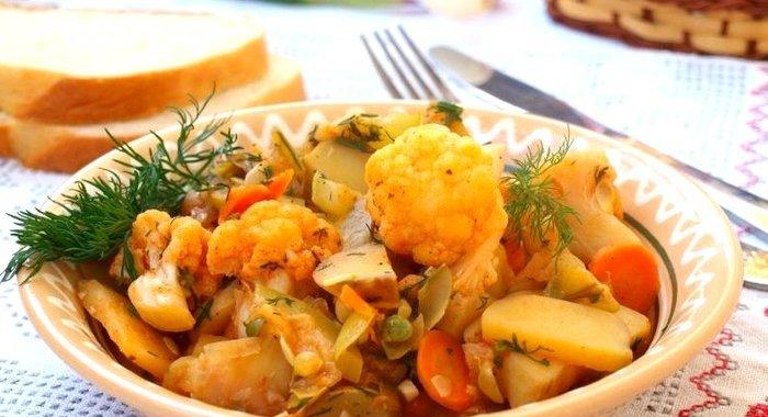 рецепт рагу из овощей с цветной капустой