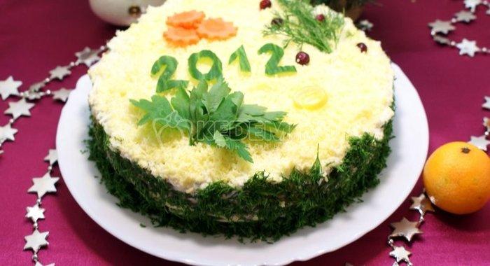 Рецепты новогодних салатов 2012 с фото
