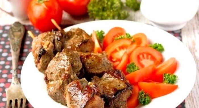 Шашлык в духовке из свинины на шпажках в духовке рецепт