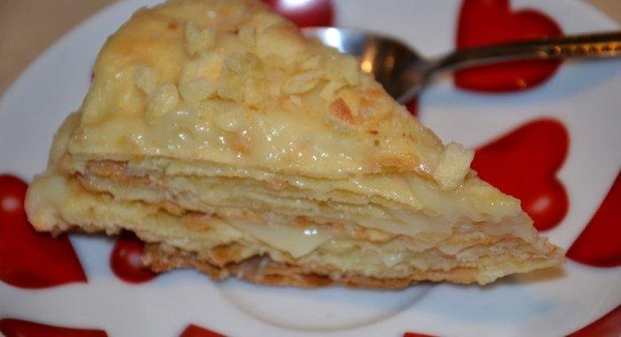 Торт наполеон рецепт с пошагово с заварным кремом