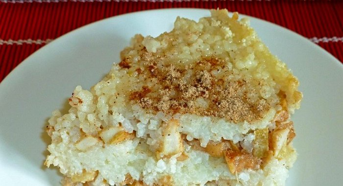 Рисовая запеканка сладкая в духовке рецепт с пошагово