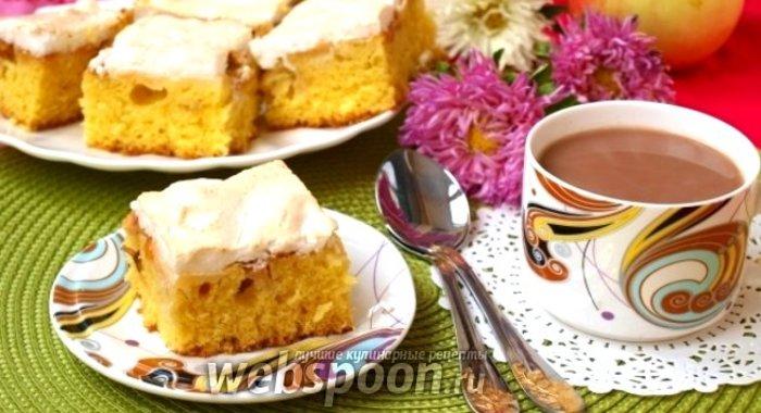 Рецепт яблочного пирога с меренгой