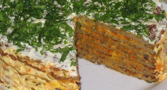 Печёночный пирог из свиной печени рецепт пошагово в