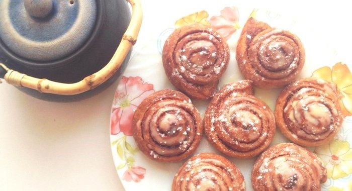 Рецепт булочек с корицей с пошаговым