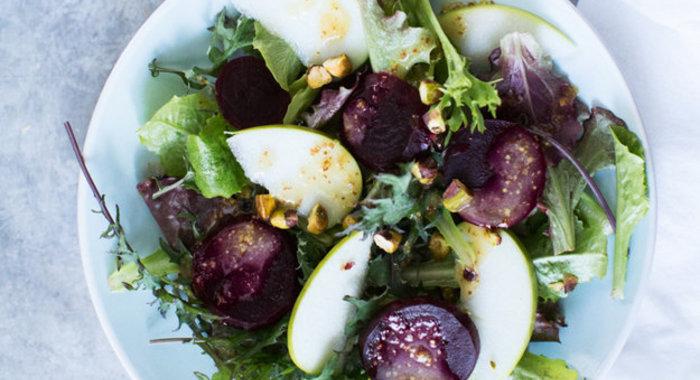 Салат с медово-горчичной заправкой рецепт с