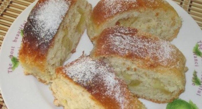 Яблочный рулет из дрожжевого теста рецепт пошагово в духовке