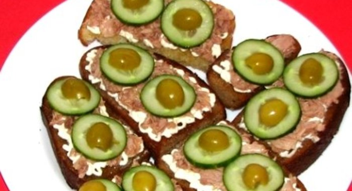 Простые бутерброды с огурцом рецепты