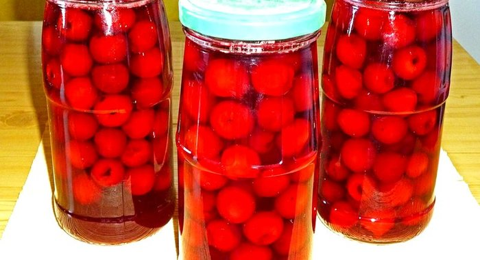 Рецепт вишня в сиропе