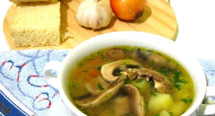 Сырный суп с фрикадельками и грибами пошаговый рецепт