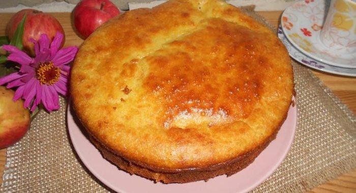 Яблочный пирог простой рецепт с фото пошагово