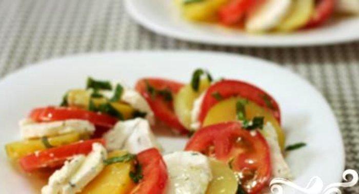 Салат из козьего сыра