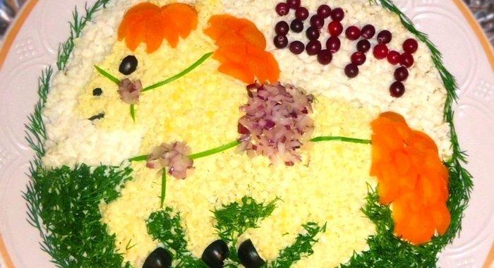 Рецепты салатов с пошагово красивые
