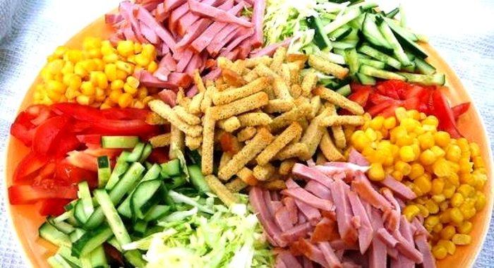 Салат ералаш из свежих овощей рецепт пошагово
